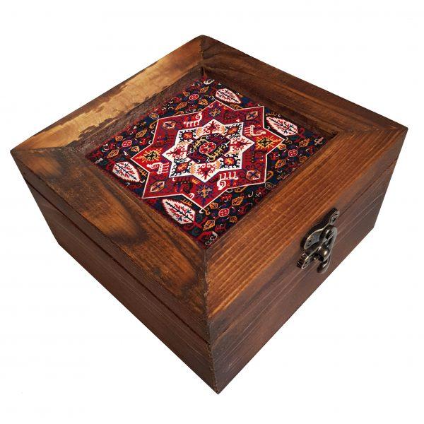 جعبه چوبی طرح گلیم